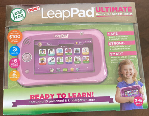 LeapFrog LeapPad Ultimate Ready for School Tablet Pink NEW I