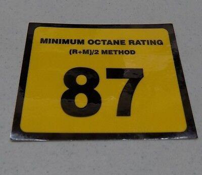 Gilbarco Veeder-root Advantage Dispenser Octane 87 Decal Wayne Tokheim