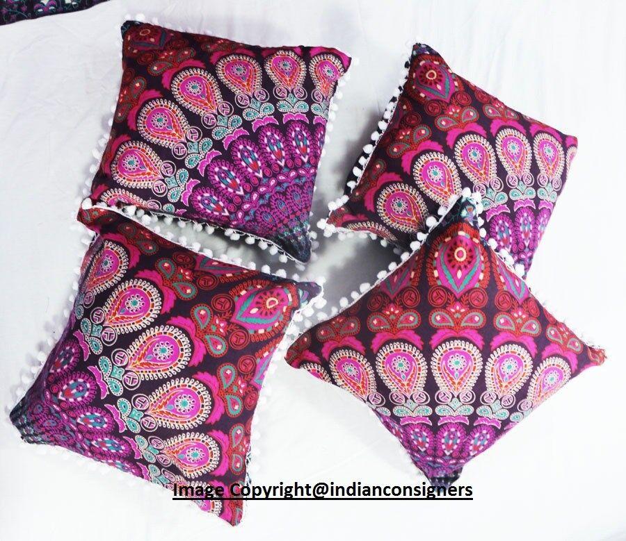 excellent designer purple cushion cover 100 percent