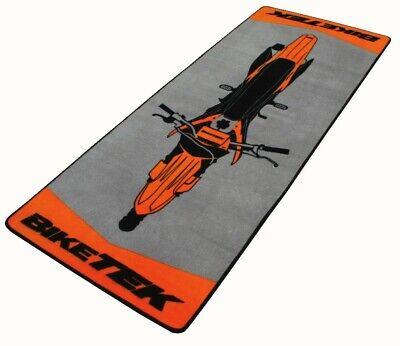 - BIKETEK MX KTM Orange Motorcycle Service Display Parking Pit Mat Rug
