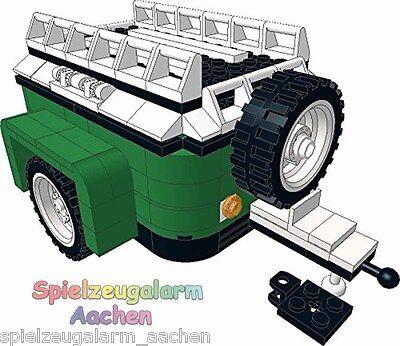 LEGO Grüne Camper Gepäck Anhänger zu 10242 Mini Cooper mit Anleitung BOC