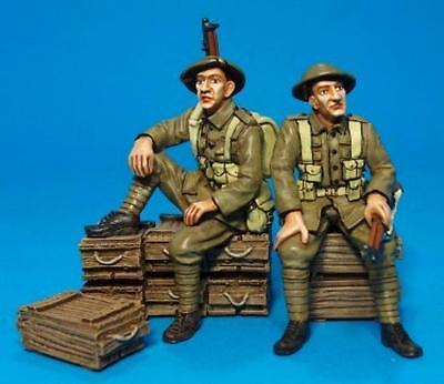 JOHN JENKINS WW1 THE GREAT WAR GWB-20 BRITISH TOMMIES SITTING WAITING MB