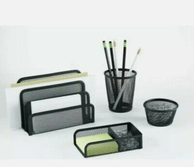 Pen Gear 4-piece Desk Organizer Set.. New In The Box.
