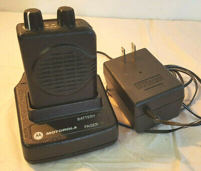 Motorola Minitor V Low Band 33-49 Mhz 2 Frequency Voice Vibrate Pager