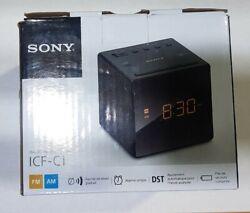 Sony ICF-C1T AM/FM Desktop Dual Alarm Clock Radio - Black open box
