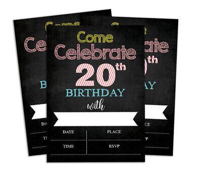 Druckbare Karten (Geburtstag Einladungskarte Druckbare elegante Party lädt 28 Stück-DS-IN172A)