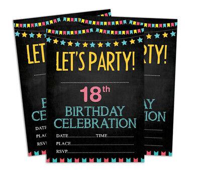 Druckbare Karten (Geburtstag Einladungskarte Druckbare elegante Party lädt 28 Stück-DS-IN167A)