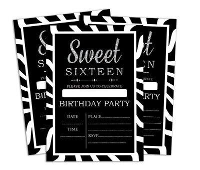 Druckbare Karten (Geburtstag Einladungskarte Druckbare elegante Party lädt 28 Stück-DS-IN160A)