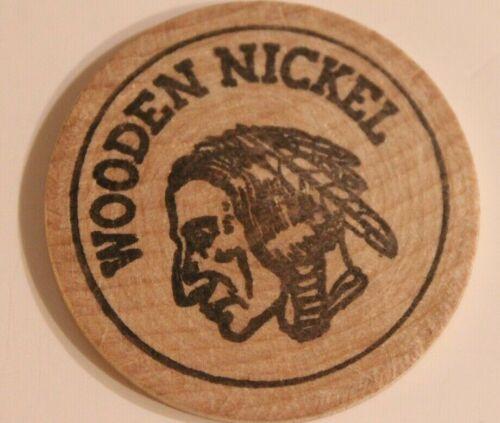 Vintage Silver City Wooden Nickel Meriden Connecticut 1976