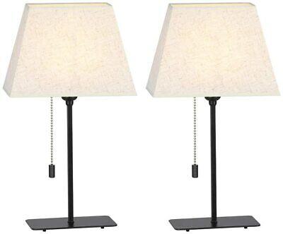 Table Lamp Set of 2  Elegant for Any Room Elegant Linen  Convenient  Metal