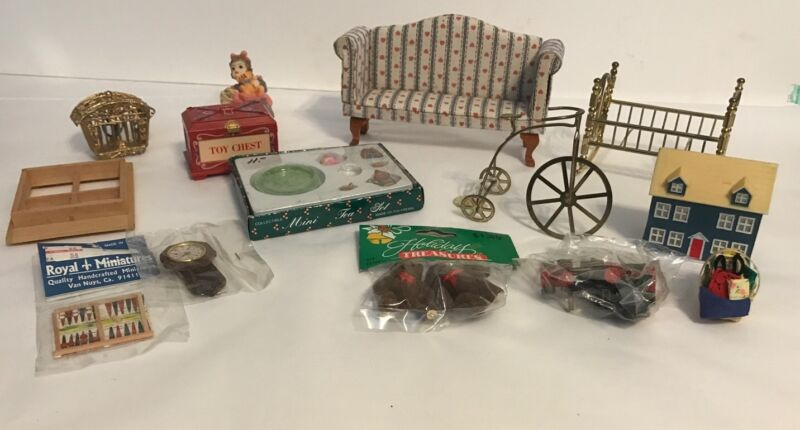 Vintage,collectible,rare finds, miniatures for dollhouse, Furniture, Misc Items