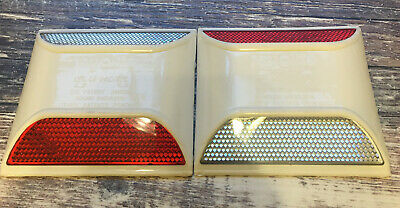 Rayolite Reflective Raised Pavement Marker White Red Lot Of 2.