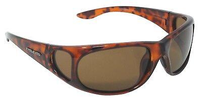 6ad3627f858c Fisherman Sunglasses Polarized Brown Cat-3 UV400 Lenses + Side Shields
