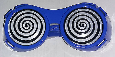 Blue X-Ray Hypnotizing Sunglasses with Swirl Lens - Hypnotizing Swirl