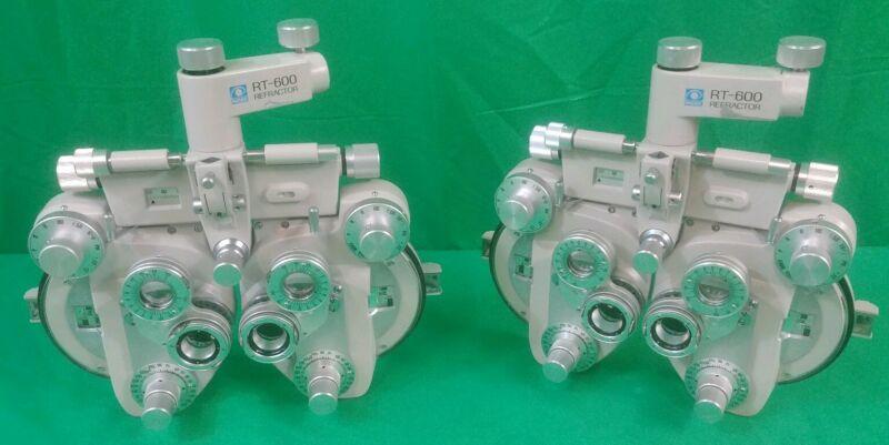 LOT of 2 Nidek RT 600P Ultramatic Minus Cylinder Phoropter refractor