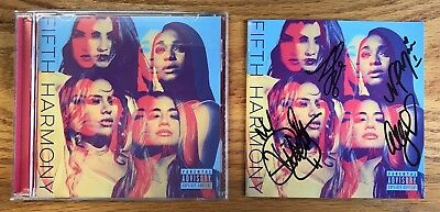 Fifth Harmony New Rare Authentic Autographed Physical Cd Signed By All 4 Members