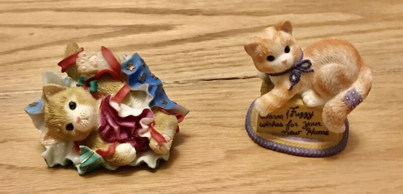 COLLECTIBLE CALICO KITTENS SET OF 2 RARE