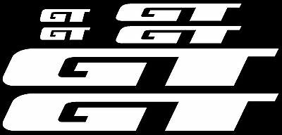 GT Bicycle Decal Sticker Pair  BMX  Black or White 9.75  inches