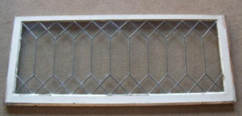 PAIR OF VINTAGE LEADED GLASS WINDOWS 48 X 19