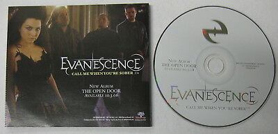Evanescence Call Me When Ypure Sober 2006 Promo Cd Single Goth Amy Lee Nu Metal