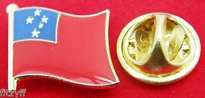 (Samoa Flag Lapel Hat Tie Pin Badge Malo Saʻoloto Tutoʻatasi o Sāmoa Gift Brooch)