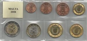 MALTA - Serie cpl. 8 monete 2008 - Italia - Si accetta la restituzione solo se l'oggetto non corrisponde alla descrizione. - Italia