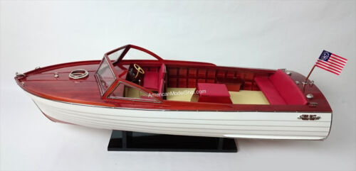 "Chris Craft Sea Skiff Ship Model 26"" - HandCrafted Wooden Model Scale 1:10 NEW"
