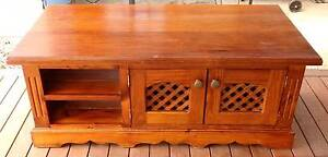 Solid Timber Wood Coffee Table Lowline Entertainment Unit Storage South Windsor Hawkesbury Area Preview