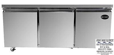 Saba 72 3 Door Commercial Undercounter Refrigerator Ss Steel Food Storage