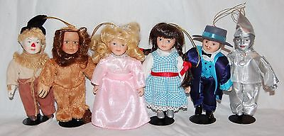Set of 6 Seymour Mann Wizard of Oz Porcelain Doll Ornaments Storybook Tiny Tots