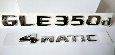 Mercedes GLE350d 4Matic chrom emblem