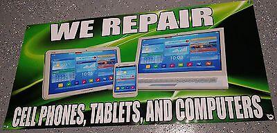 Cell Phone  Computer  Tablet Repair Banner Sign    Business Screen Repair Iphone