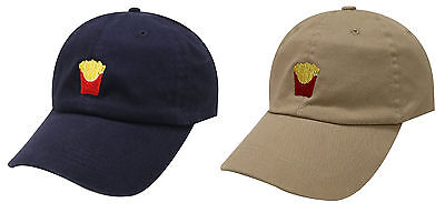 SLOUCH FRENCH FRIES ADJUSTABLE CURVED BILL DAD HAT BASEBALL CAP FAST FOOD EMOJI Slouch Baseball