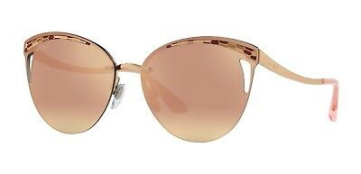 Bvlgari SERPENTEYES BV 6110 Rose Gold/Rose Gold Mirrored (2014/4Z) Sunglasses
