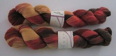 Lot of 2 skeins MAPLE GROVE Lornas Laces SHEPHERD SOCK knitting yarn Color #808
