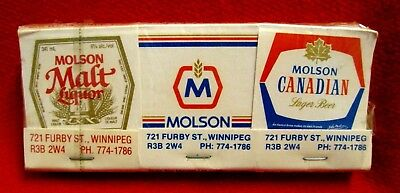 Molson Breweries Matchbooks Lot of 6 Various meau13