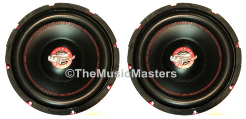 "(2) 10"" inch Home Stereo Sound Studio WOOFER Subwoofer Speaker Bass Driver 8 Ohm"
