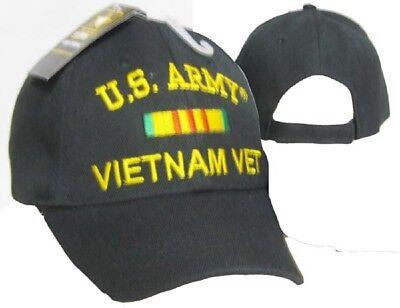 U.S. Army Vietnam Vet Veteran Black Ribbon Embroidered Cap Hat CAP611A (TOPW)