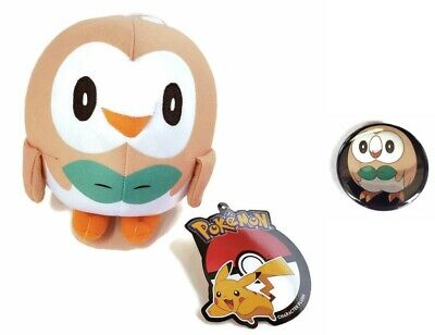 "Toy Factory 6"" Rowlet Plush Pokemon - NWT and comes with a pin!"