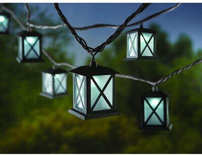 Metal Lantern LED Indoor Outdoor Hanging String Lights Patio Awning Canopy - String Lantern Lights