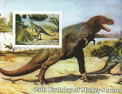 DINOSAUR PRE-HISTORIC MONSTER REPTILE ANIMAL 2003 MNH STAMP SHEETLET