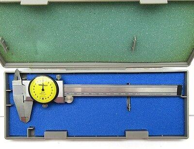 New Mitutoyo 505-601 150mm 0.02mm Dial Caliper