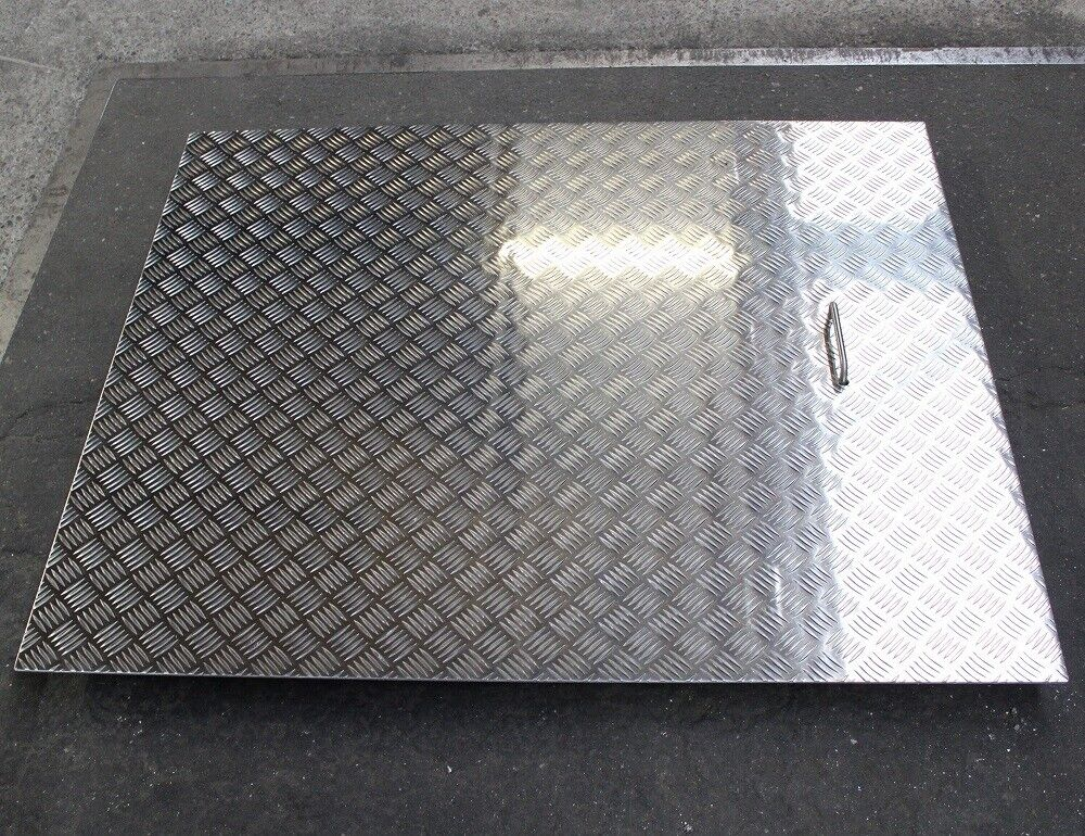 Blech Aluminium Riffelblech 5//6,5 500 x 500 quintett Schachtabdeckung