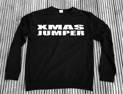 Christmas Jumper - Black sweatshirt Xmas Gift Mens Womens Rock Goth Emo sweater (Goth Christmas Sweater)