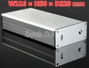 Mini Aluminum DAC Audio Chassis HiFi Case Amplifier Enclosure Silver Box Cabinet