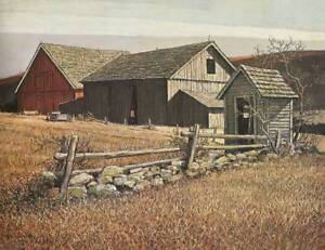 Old Out Buildings, Barn , Rock, Fence by Eric Sloane
