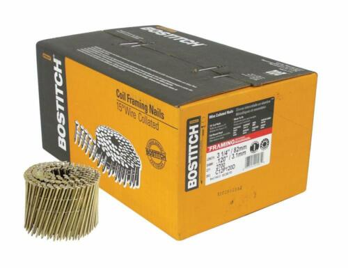 BOSTITCH C12P120D 15 Degree 3-1/4 by .120-Inch Wire Collated Nails 2700pcs. box