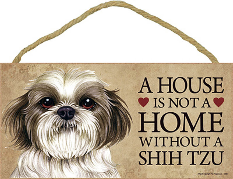 Shih Tzu House is Not a Home Sign Puppy Cut + Bonus Coaster