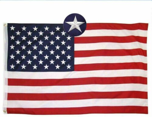5x8 ft American Flag US Flag Brass Flag with Grommet Embroidered UV Fade resist