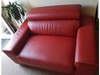 Leather cuddler sofa bed